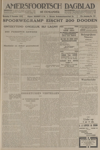 Amersfoortsch Dagblad / De Eemlander 1933-12-27