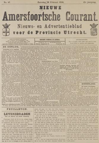 Nieuwe Amersfoortsche Courant 1916-02-26