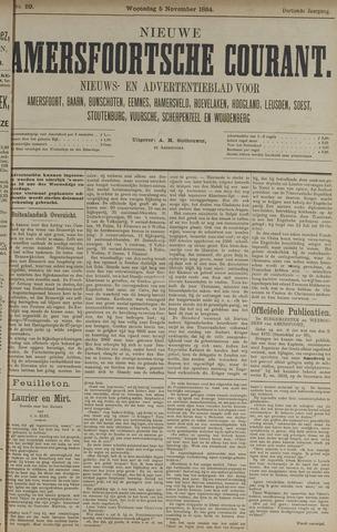 Nieuwe Amersfoortsche Courant 1884-11-05
