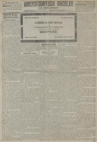 Amersfoortsch Dagblad / De Eemlander 1919-09-27