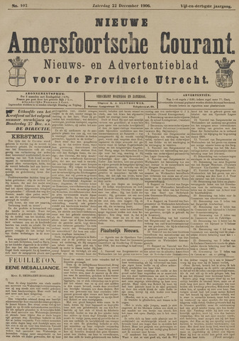 Nieuwe Amersfoortsche Courant 1906-12-22
