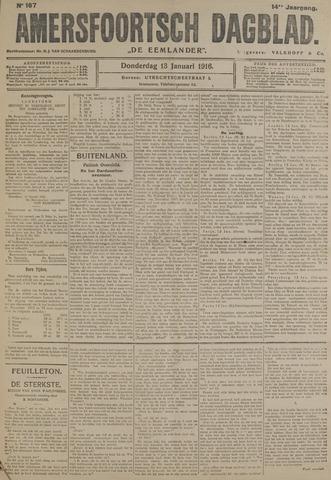 Amersfoortsch Dagblad / De Eemlander 1916-01-13