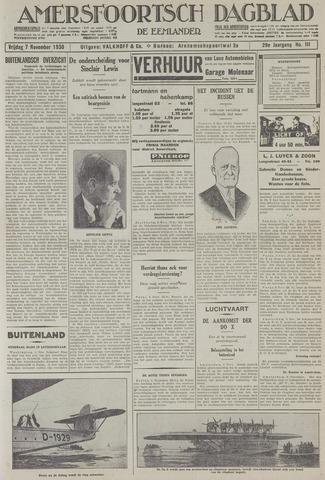 Amersfoortsch Dagblad / De Eemlander 1930-11-07