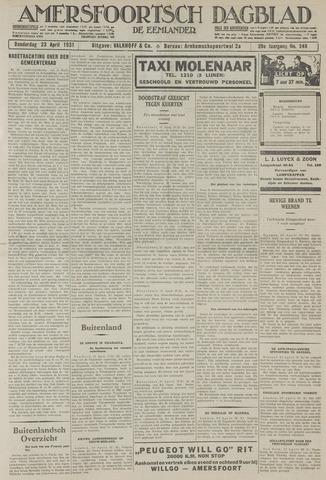 Amersfoortsch Dagblad / De Eemlander 1931-04-23