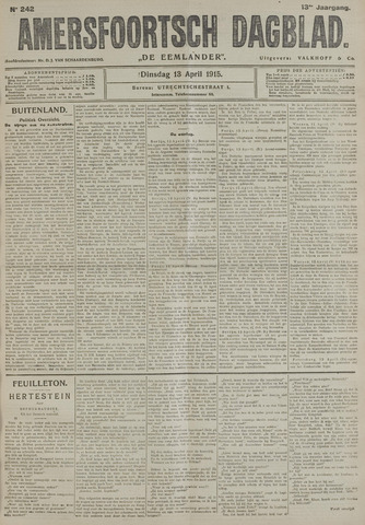 Amersfoortsch Dagblad / De Eemlander 1915-04-13