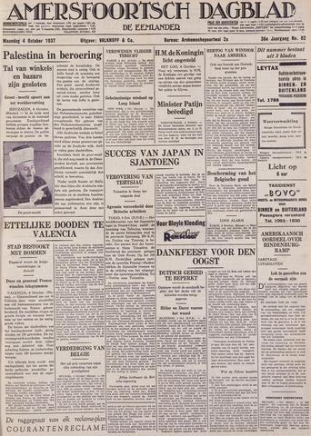 Amersfoortsch Dagblad / De Eemlander 1937-10-04
