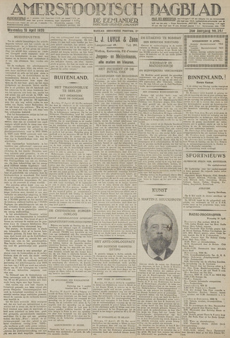 Amersfoortsch Dagblad / De Eemlander 1928-04-18