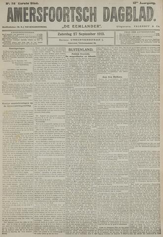 Amersfoortsch Dagblad / De Eemlander 1913-09-27