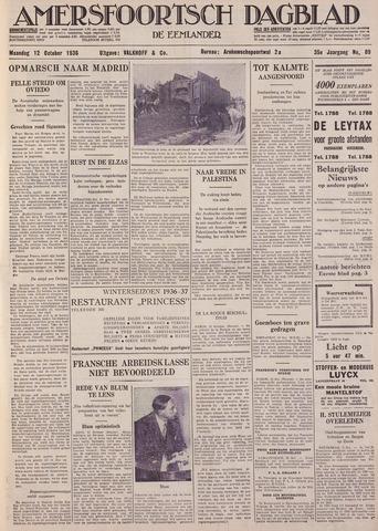 Amersfoortsch Dagblad / De Eemlander 1936-10-12