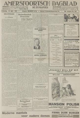 Amersfoortsch Dagblad / De Eemlander 1931-04-18