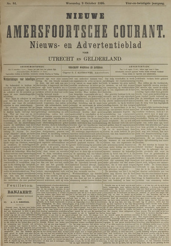 Nieuwe Amersfoortsche Courant 1895-10-09