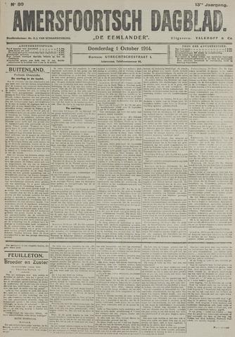 Amersfoortsch Dagblad / De Eemlander 1914-10-01