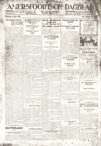 Amersfoortsch Dagblad / De Eemlander 1930-04-02