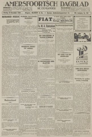 Amersfoortsch Dagblad / De Eemlander 1930-12-23