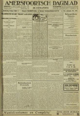 Amersfoortsch Dagblad / De Eemlander 1933-03-09
