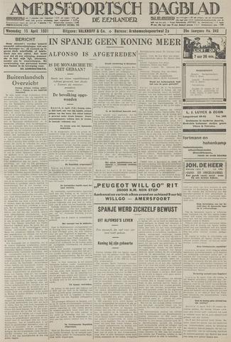 Amersfoortsch Dagblad / De Eemlander 1931-04-15