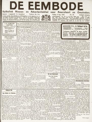 De Eembode 1916-08-04