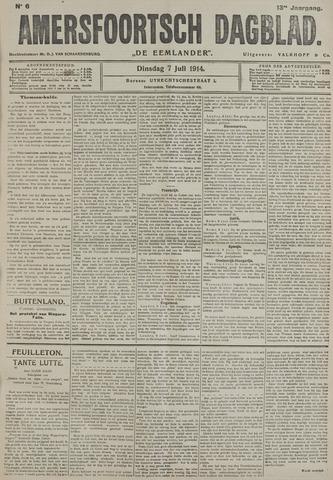 Amersfoortsch Dagblad / De Eemlander 1914-07-07
