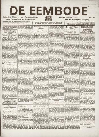 De Eembode 1929-02-15