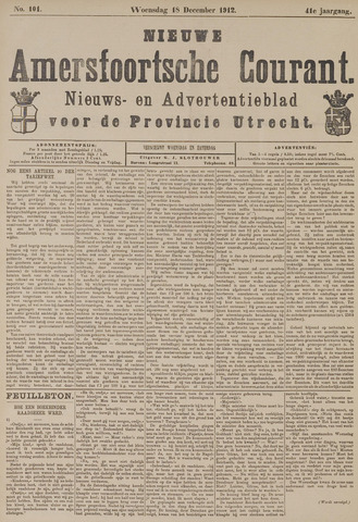 Nieuwe Amersfoortsche Courant 1912-12-18