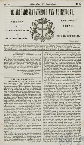 Arrondissementsbode van Amersfoort 1849-11-20