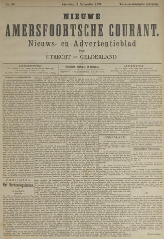 Nieuwe Amersfoortsche Courant 1893-11-11