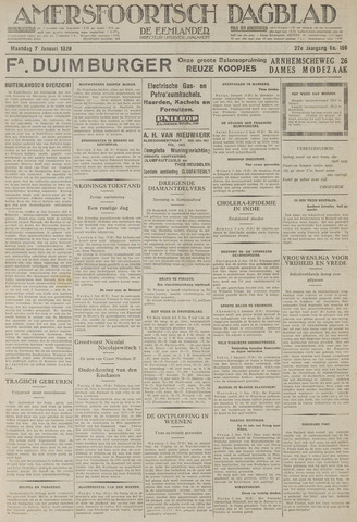 Amersfoortsch Dagblad / De Eemlander 1929-01-07
