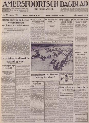 Amersfoortsch Dagblad / De Eemlander 1940-08-30