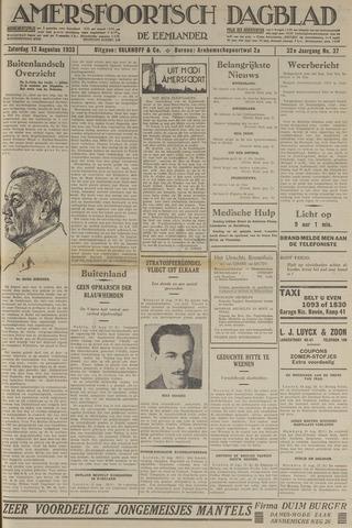 Amersfoortsch Dagblad / De Eemlander 1933-08-12