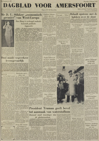 Dagblad voor Amersfoort 1950-02-01
