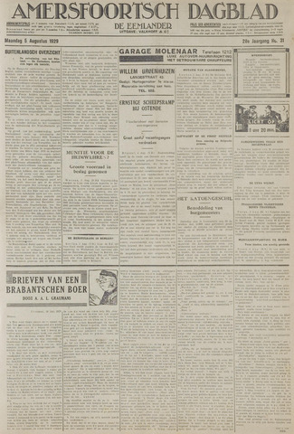 Amersfoortsch Dagblad / De Eemlander 1929-08-05