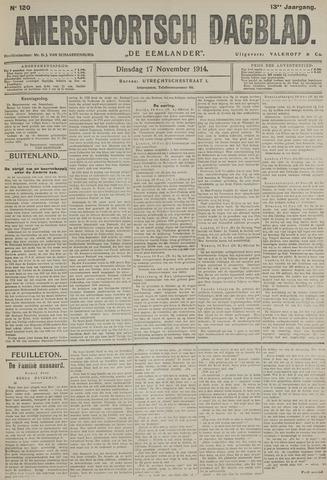Amersfoortsch Dagblad / De Eemlander 1914-11-17