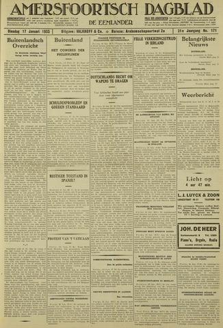 Amersfoortsch Dagblad / De Eemlander 1933-01-17