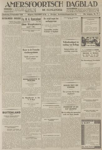 Amersfoortsch Dagblad / De Eemlander 1930-09-25