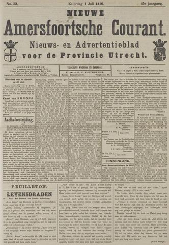 Nieuwe Amersfoortsche Courant 1916-07-01