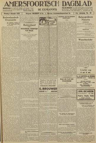 Amersfoortsch Dagblad / De Eemlander 1932-10-04