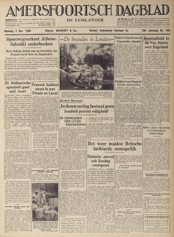 Amersfoortsch Dagblad / De Eemlander 1940-11-04