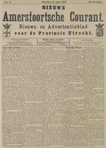 Nieuwe Amersfoortsche Courant 1919-04-19
