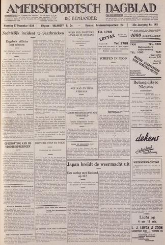 Amersfoortsch Dagblad / De Eemlander 1934-12-17