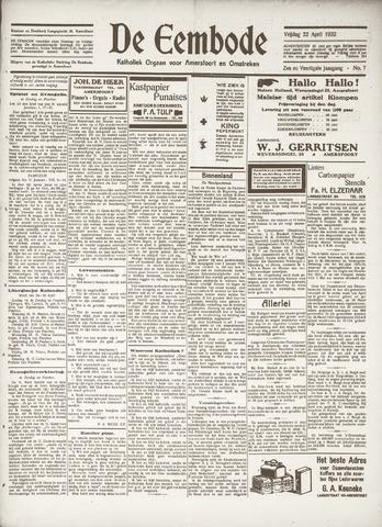De Eembode 1932-04-22