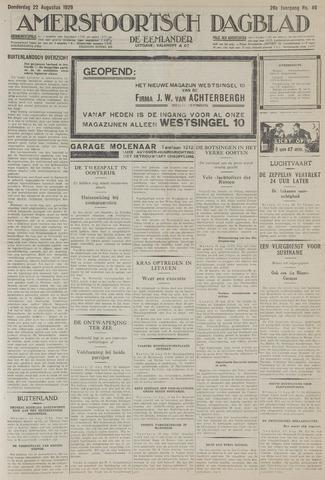 Amersfoortsch Dagblad / De Eemlander 1929-08-22