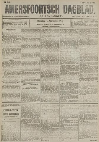 Amersfoortsch Dagblad / De Eemlander 1914-08-04