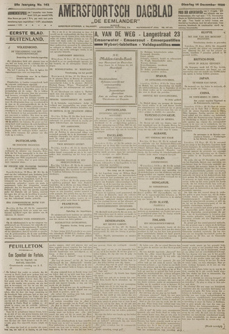 Amersfoortsch Dagblad / De Eemlander 1926-12-14