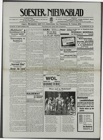 Soester Courant 1939-09-22