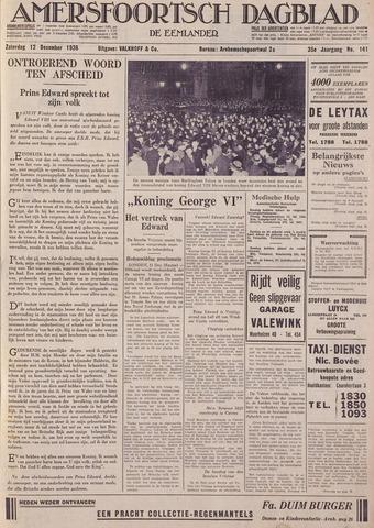 Amersfoortsch Dagblad / De Eemlander 1936-12-12