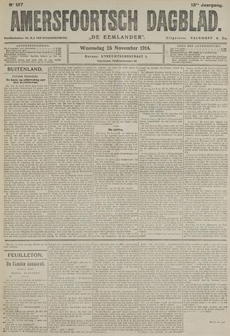 Amersfoortsch Dagblad / De Eemlander 1914-11-25