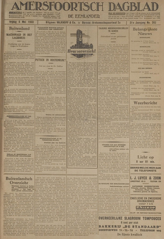 Amersfoortsch Dagblad / De Eemlander 1933-05-05