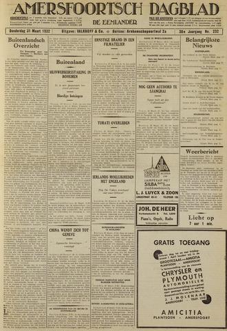 Amersfoortsch Dagblad / De Eemlander 1932-03-31
