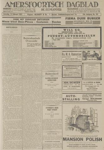 Amersfoortsch Dagblad / De Eemlander 1931-02-14