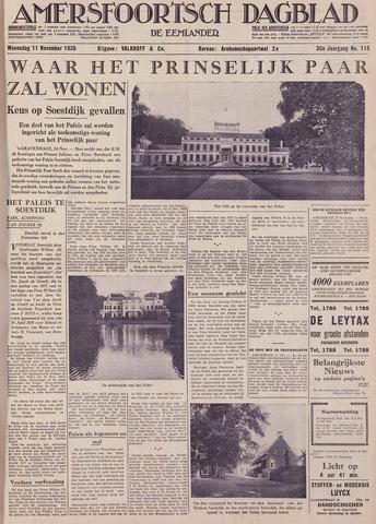 Amersfoortsch Dagblad / De Eemlander 1936-11-11